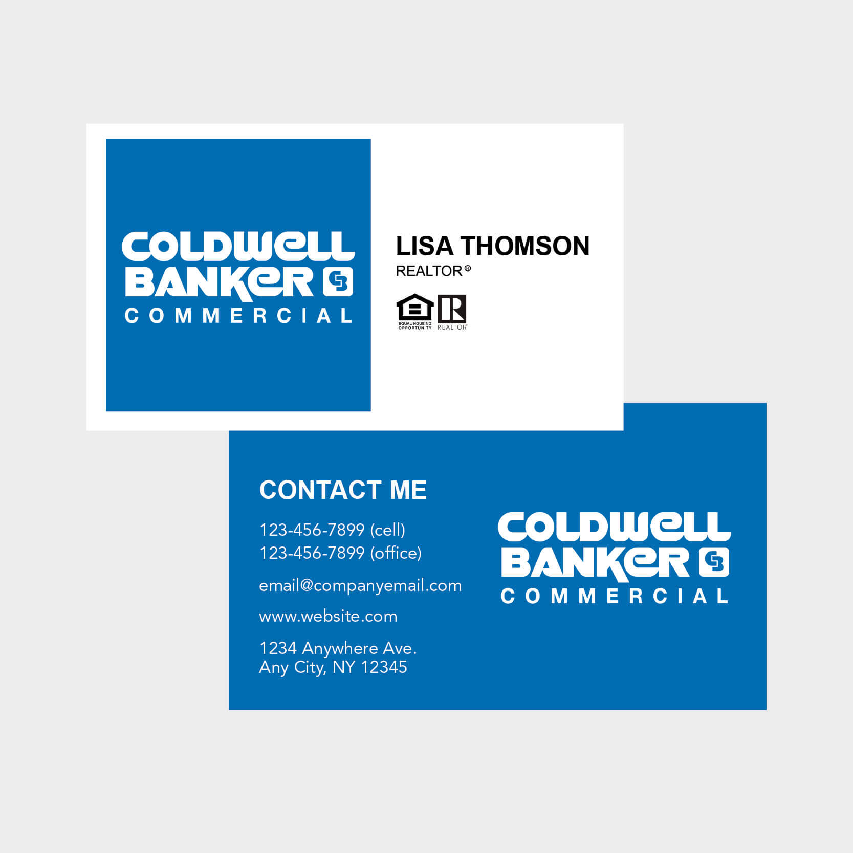 Coldwell Banker Business Cards In Coldwell Banker Business Card Template
