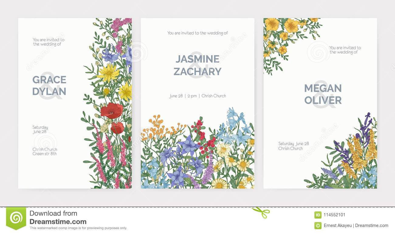 Collection Of Wedding Party Celebration Invitation Templates pertaining to Celebrate It Templates Place Cards