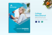 College Educational Brochure Template for Brochure Design Templates For Education