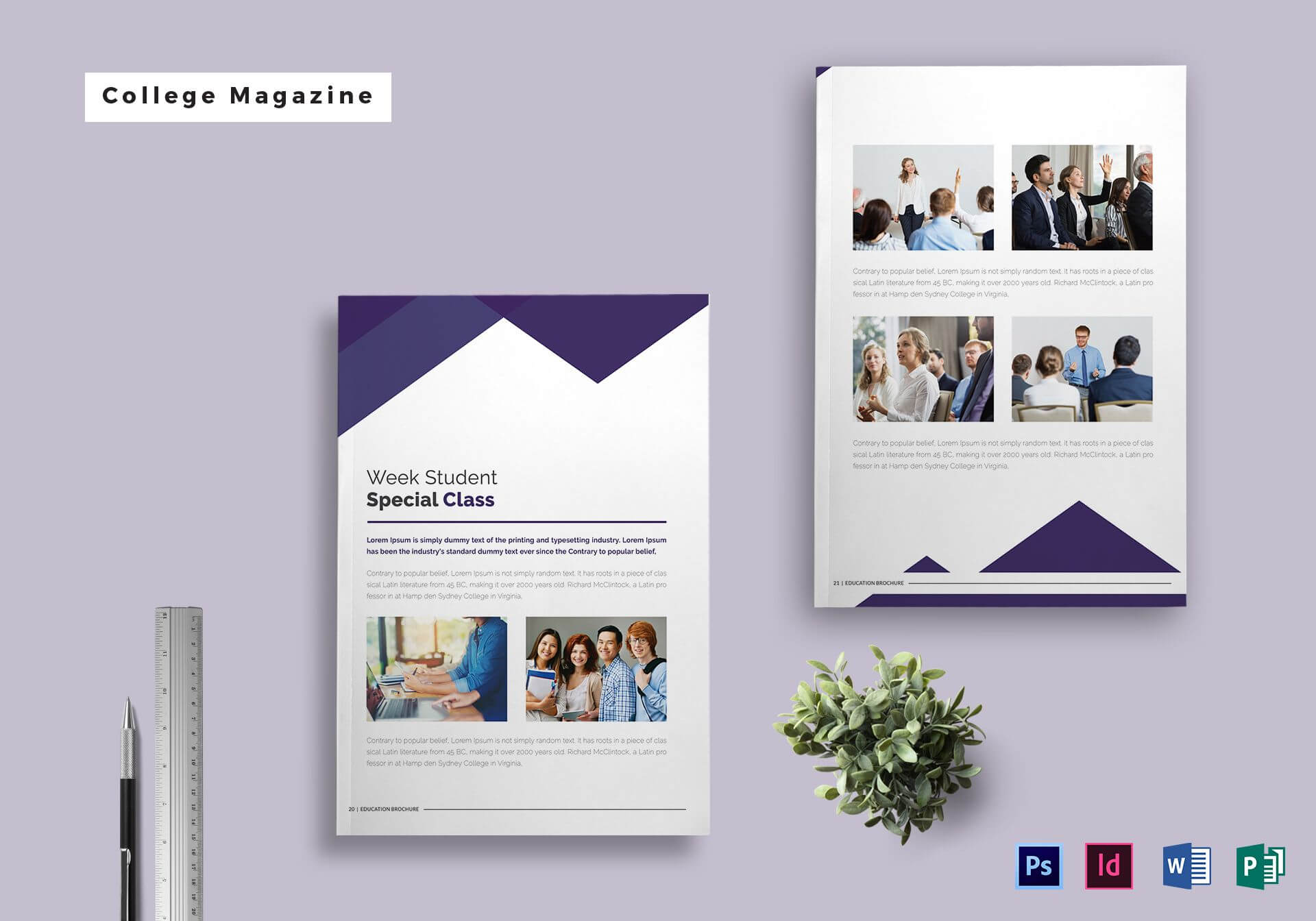 College Magazine Template Pertaining To Magazine Ad Template For Magazine Ad Template Word