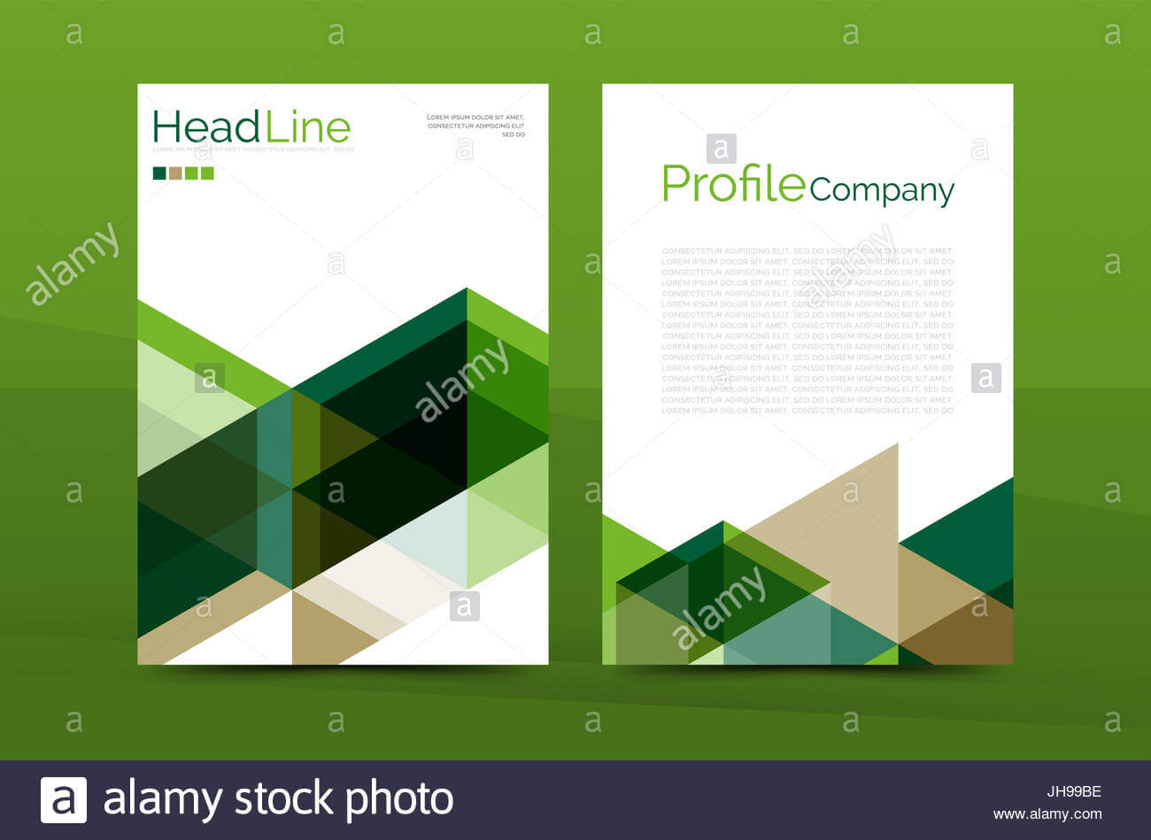 Color Business Brochure Cover Template, Annual Report Front with Report Front Page Template