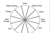 Color Wheel Worksheet Printable | Life Skills In 2019 Inside Blank Color Wheel Template