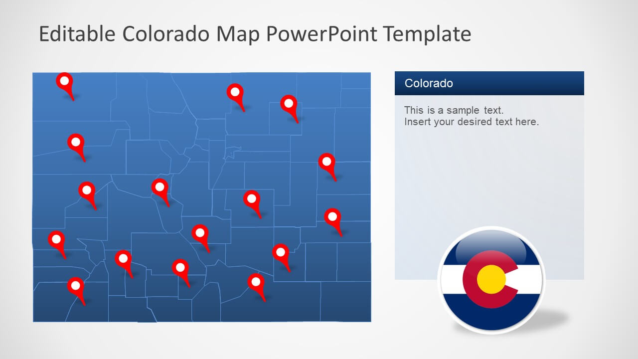 Colorado Us State Powerpoint Map for Powerpoint 2013 Template Location