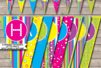 Colorful Banner Template throughout Diy Birthday Banner Template