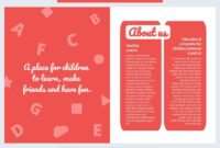 Colorful Daycare Brochure Template – Flipsnack inside Daycare Brochure Template