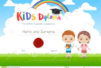 Colorful Kids Summer Camp Diploma Certificate Template In regarding Summer Camp Certificate Template