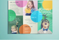Colorful School Brochure – Tri Fold Template | Download Free Inside Play School Brochure Templates