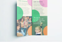Colorful School Brochure – Tri Fold Template | Download Free with regard to Brochure Templates For School Project