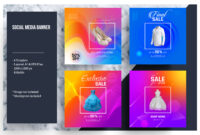 Colorful Social Media Banner Template throughout Product Banner Template