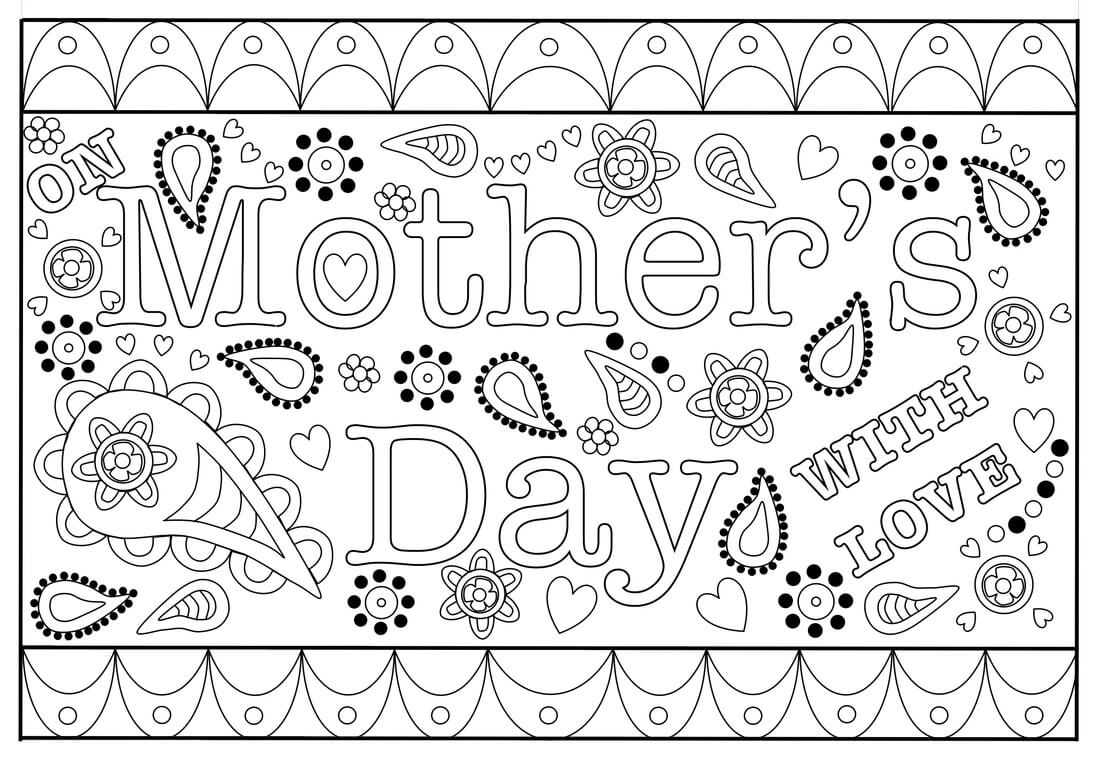 Colouring Mothers Day Card Free Printable Template Pertaining To Mothers Day Card Templates