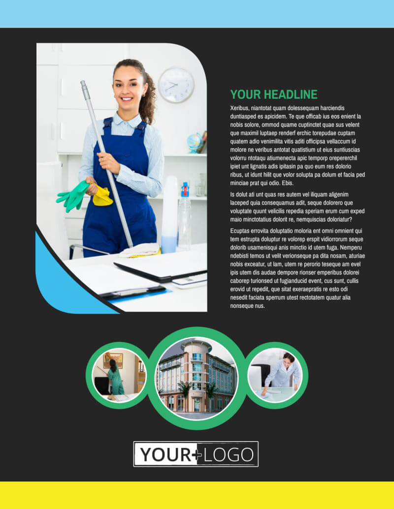Commercial Office Cleaning Flyer Template In Commercial Cleaning Brochure Templates