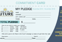 Commitment Card Template – Yupar.magdalene-Project with Fundraising Pledge Card Template