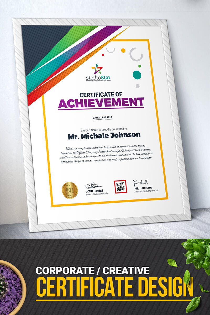 Company Design Certificate Template within Design A Certificate Template