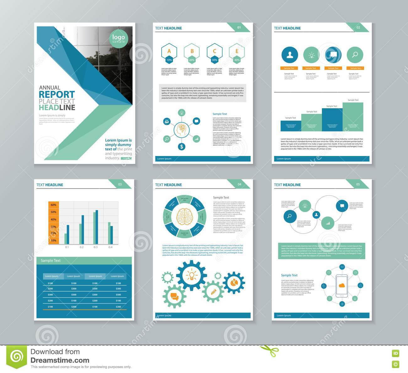 Company Profile Annual Report Brochure Flyer Page Layout For Inside Annual Report Template Word Free Download