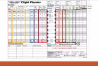 Completing A Vfr Navigation Log – Alex Aviation within Compass Deviation Card Template