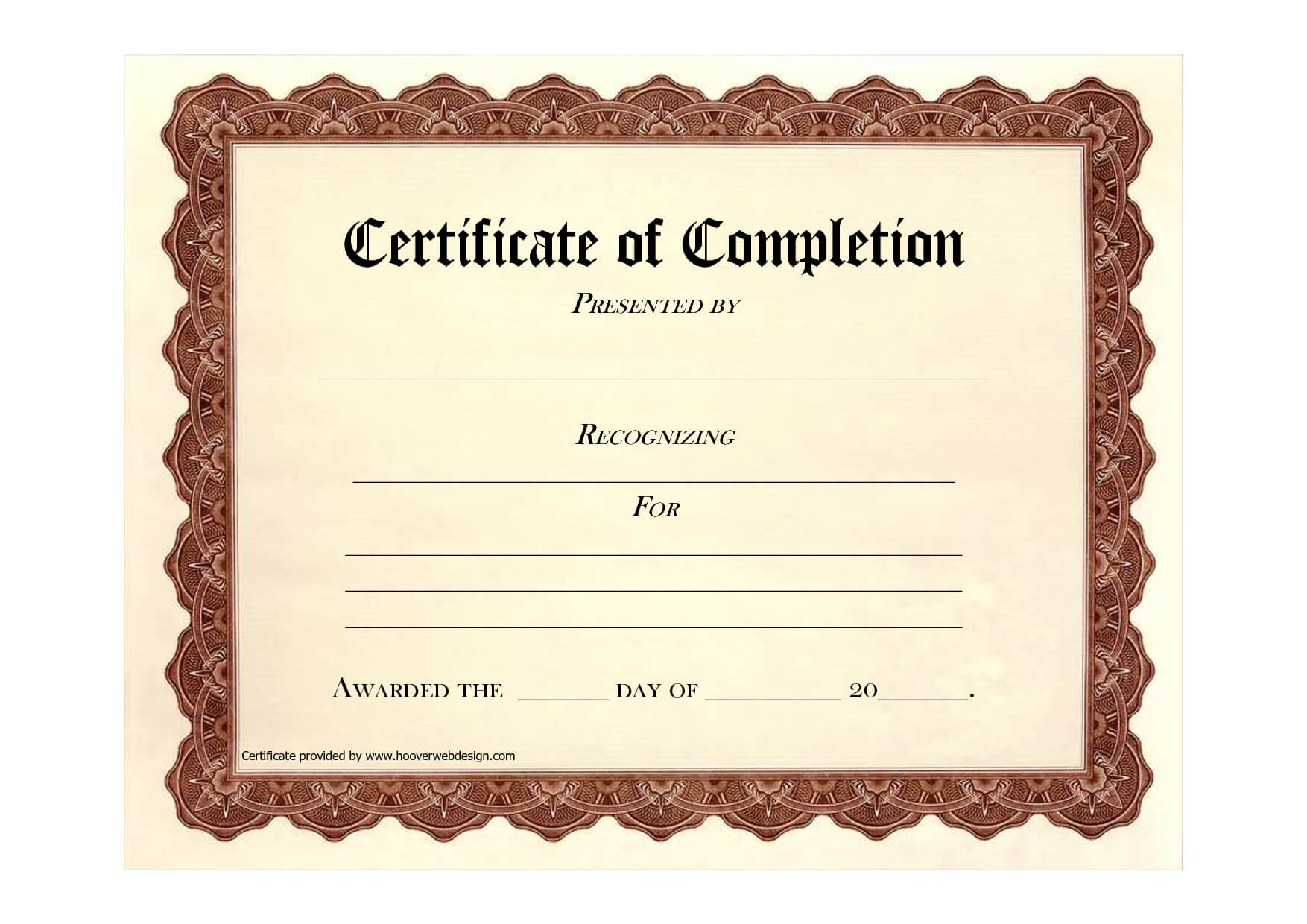 Completion Certificates Templates Free Download – Uyma.tk Intended For Certificate Of Completion Free Template Word