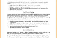Compliance Audit Report Sample Templates Internal Template with regard to Internal Control Audit Report Template