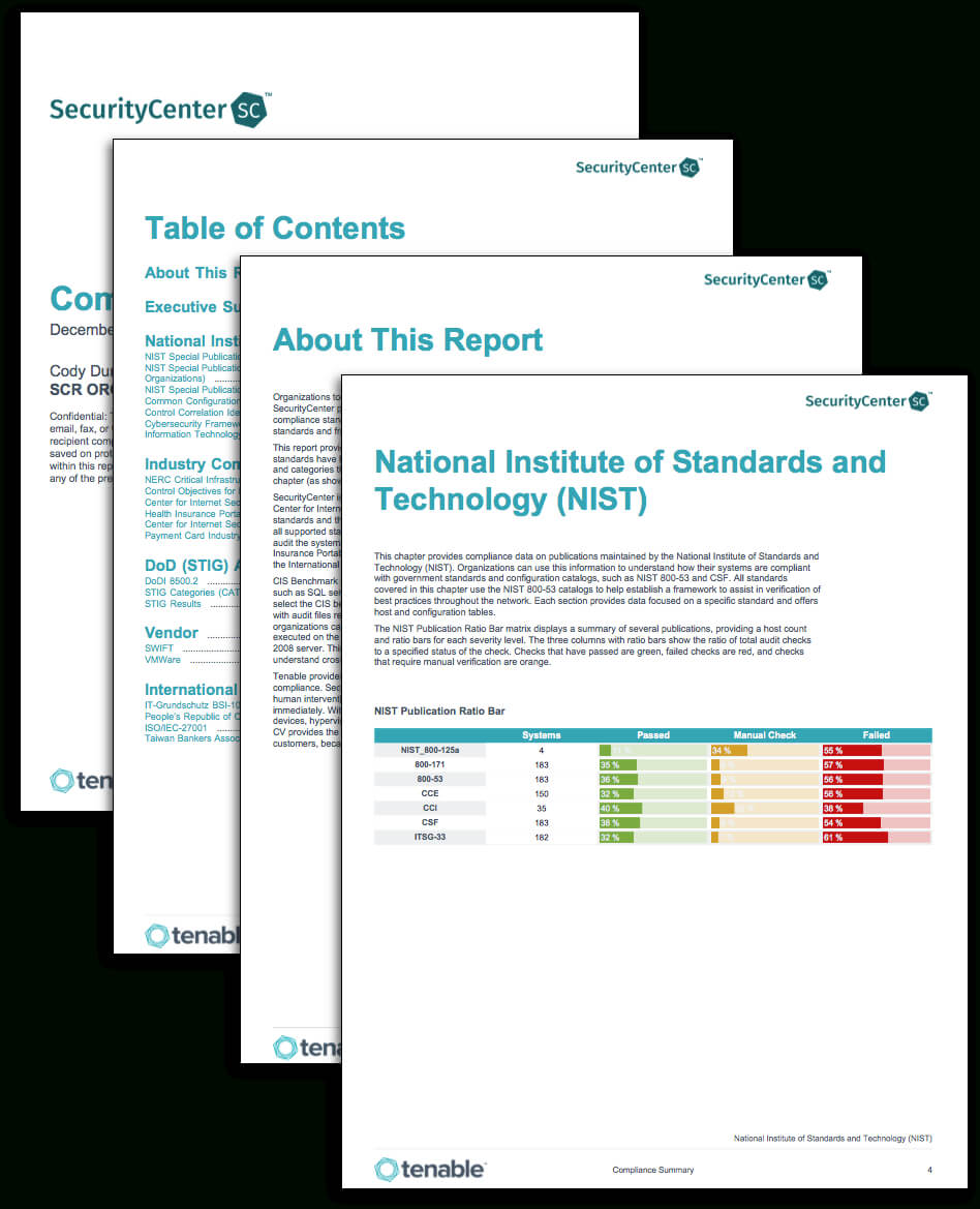 Compliance Summary Report - Sc Report Template | Tenable® Within Pci Dss Gap Analysis Report Template