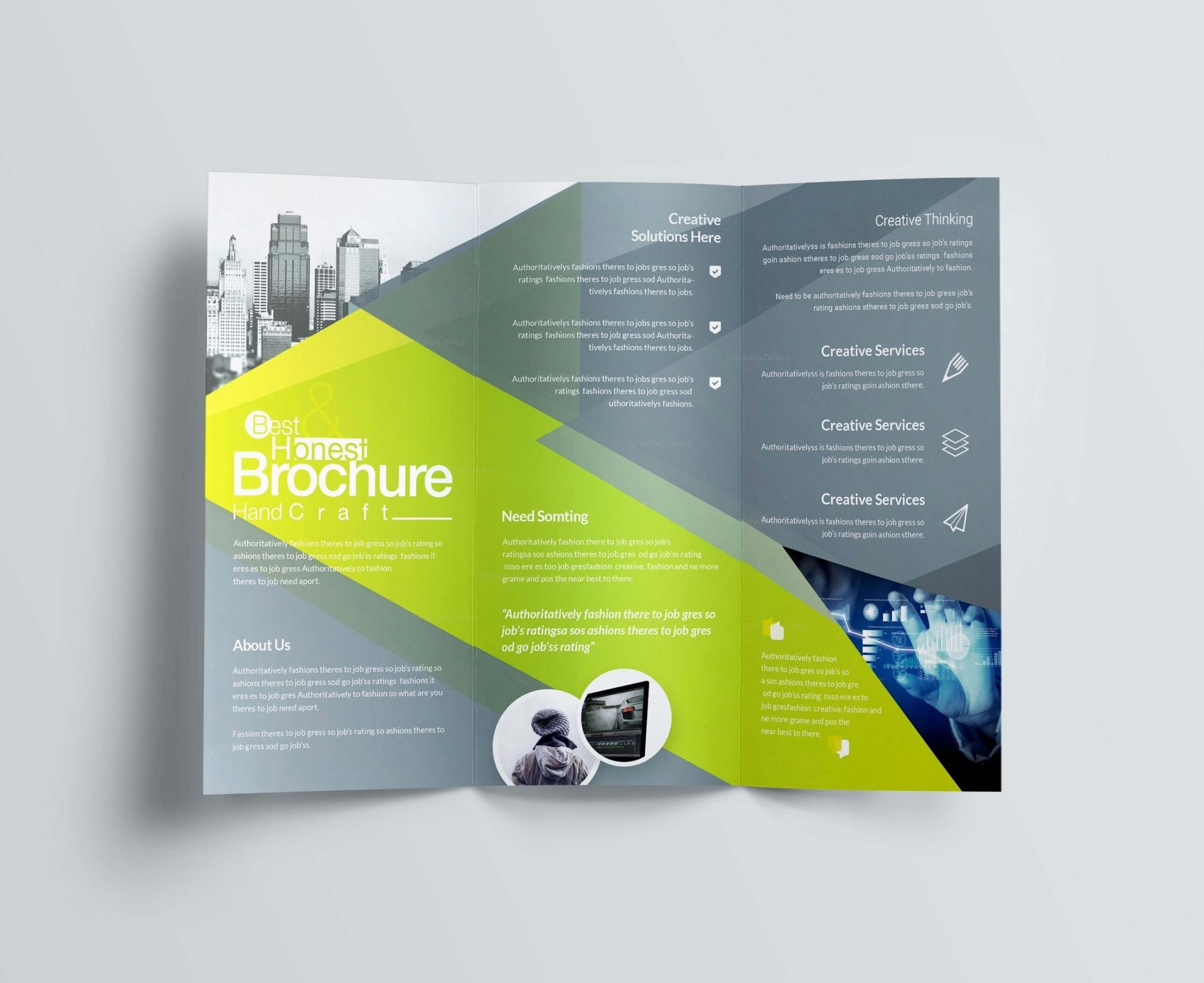 Computer Science Brochure Templates Design Free Download Throughout Creative Brochure Templates Free Download