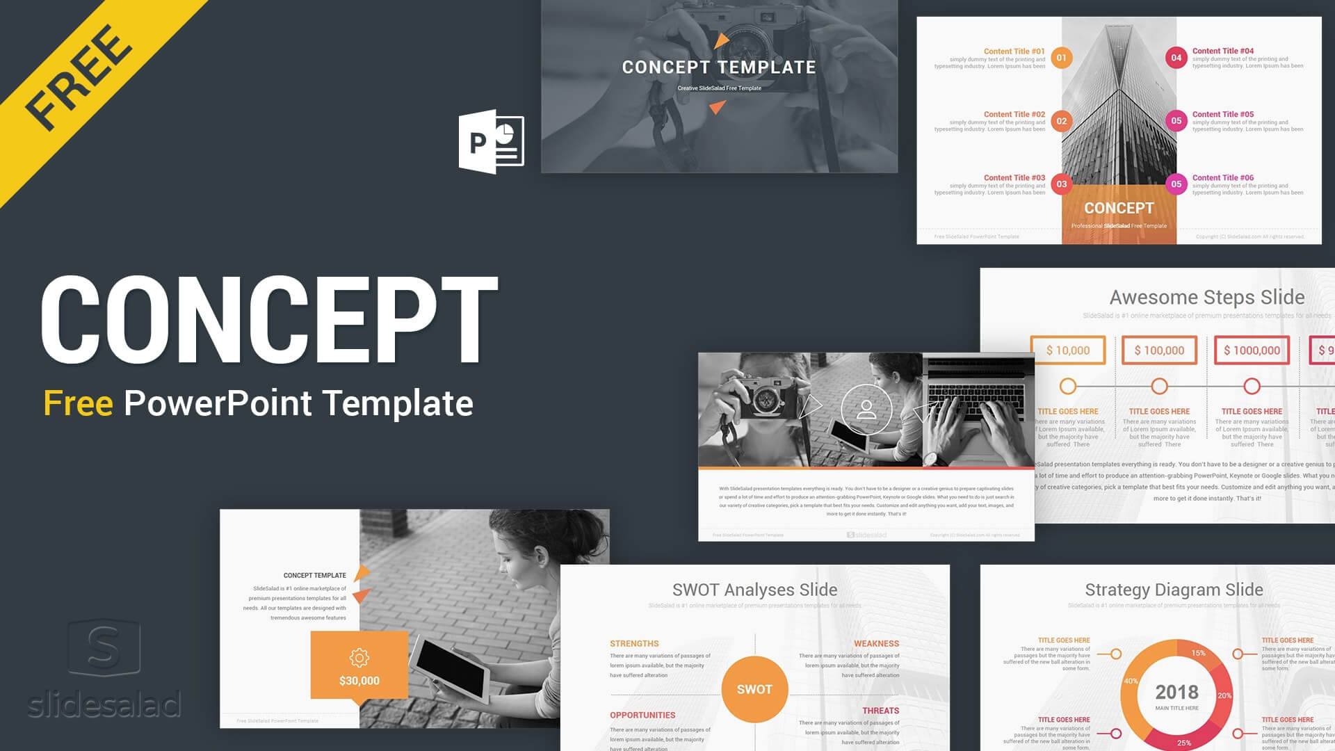 Concept Free Powerpoint Presentation Template - Free in Free Powerpoint Presentation Templates Downloads