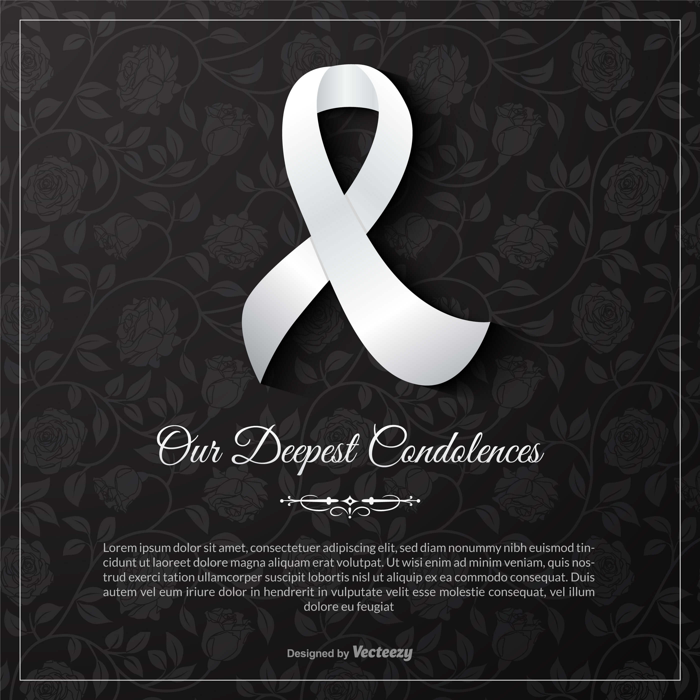 Condolence Card Free Vector Art - (39 Free Downloads) in Sorry For Your Loss Card Template