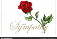 Condolences Sympathy Card Floral Red Roses Bouquet And intended for Sympathy Card Template