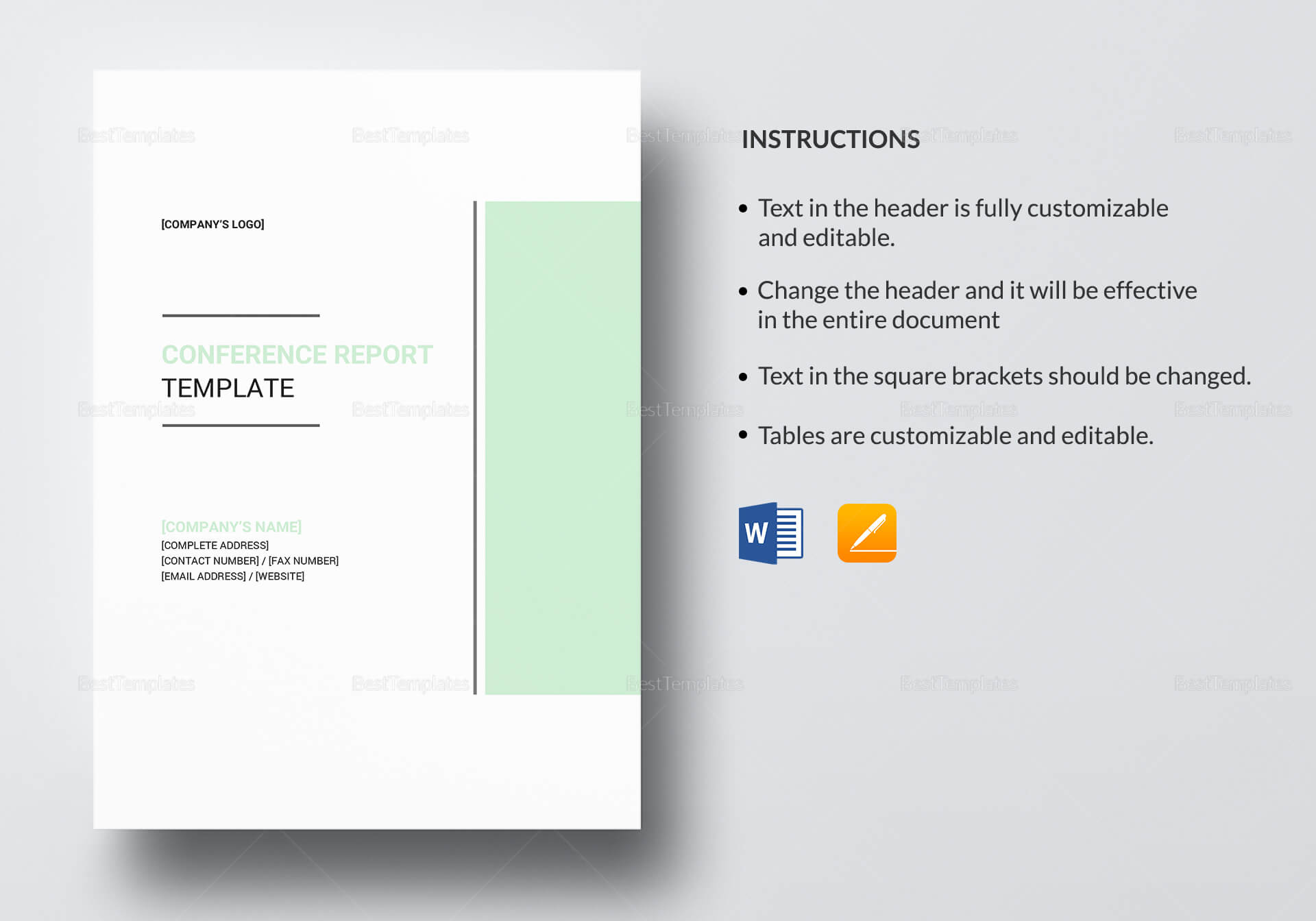 Conference Report Template regarding Conference Report Template