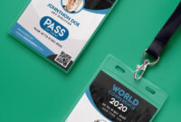 Conference Vip Entry Pass Id Card Template Psd | Psd Print intended for Conference Id Card Template