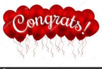 Congrats! Congratulations Vector Banner With Balloons And pertaining to Congratulations Banner Template