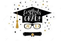 Congrats Grad 2019 Lettering. Congratulations Graduate regarding Graduation Banner Template