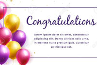 Congratulation Banner With Colorful Balloons And Space For Text.. inside Congratulations Banner Template