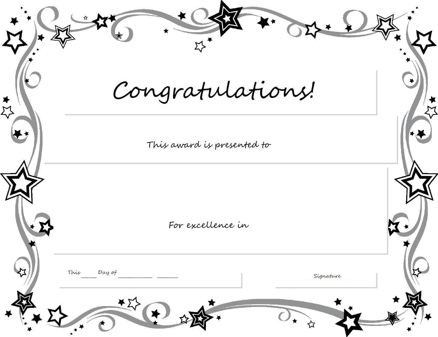 Congratulations Certificate Word Template - Erieairfair With Regarding Congratulations Certificate Word Template