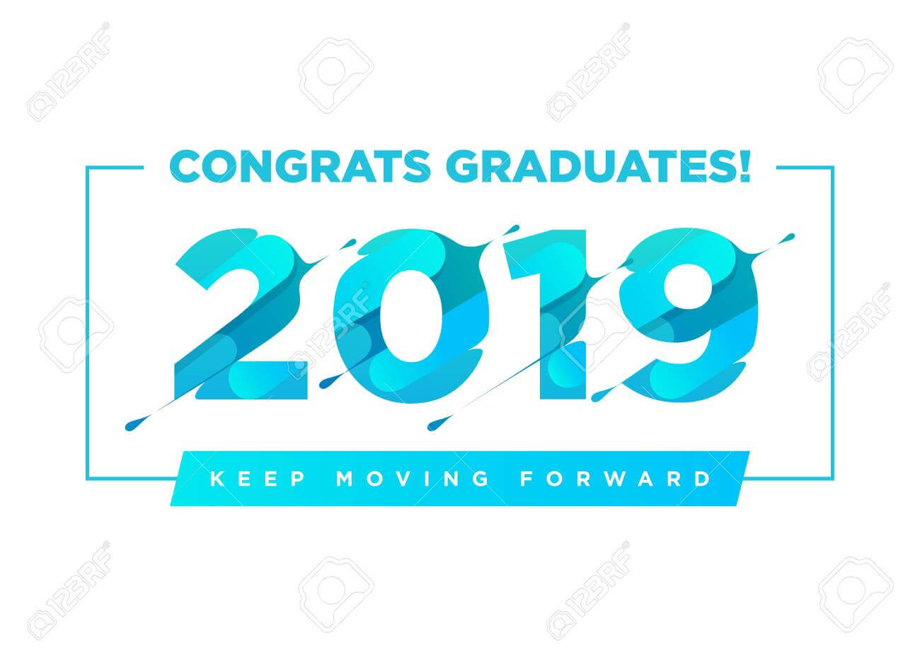 Congratulations Graduates Vector Logo. Graduation Background.. inside Graduation Banner Template