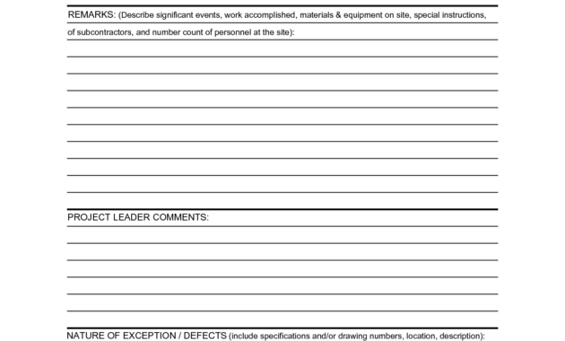 Construction Daily Report Template | Report Template, Daily regarding Construction Daily Progress Report Template