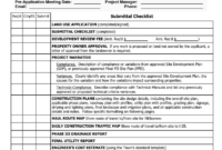 Construction Documents (Cds) Checklist throughout Drainage Report Template