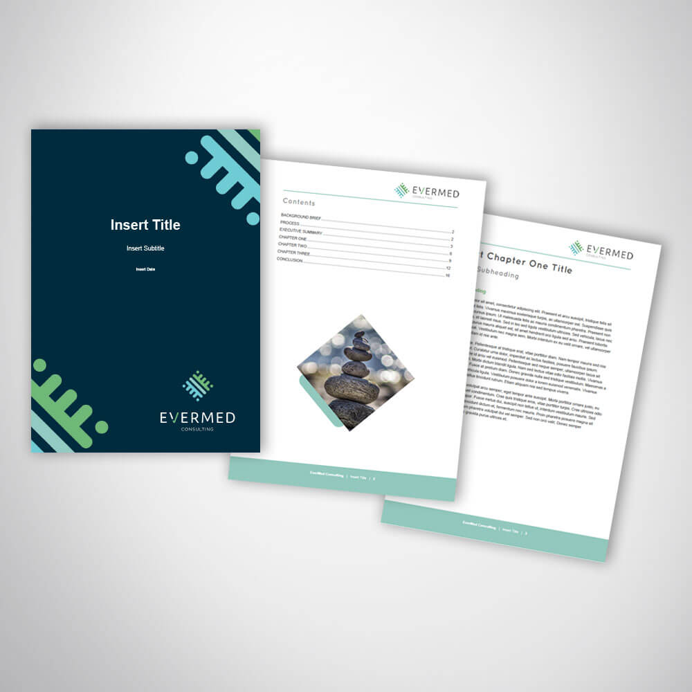 Consulting Business Report Template Design In Microsoft Word Intended For It Report Template For Word