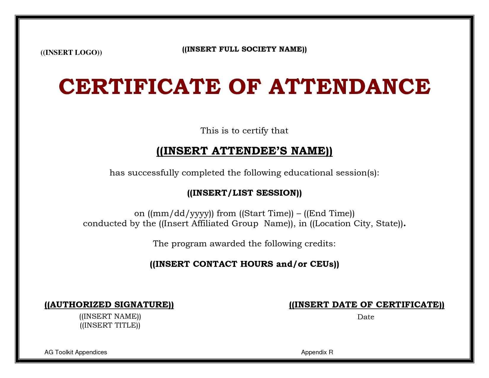 Continuing Education Certificate Template - Carlynstudio for Ceu Certificate Template