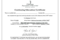 Continuing Education Certificate Template | Free Download with Ceu Certificate Template