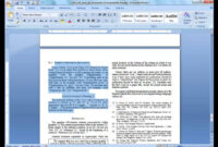 Convert A Paper Into Ieee – Quick Conversion Guide pertaining to Template For Ieee Paper Format In Word
