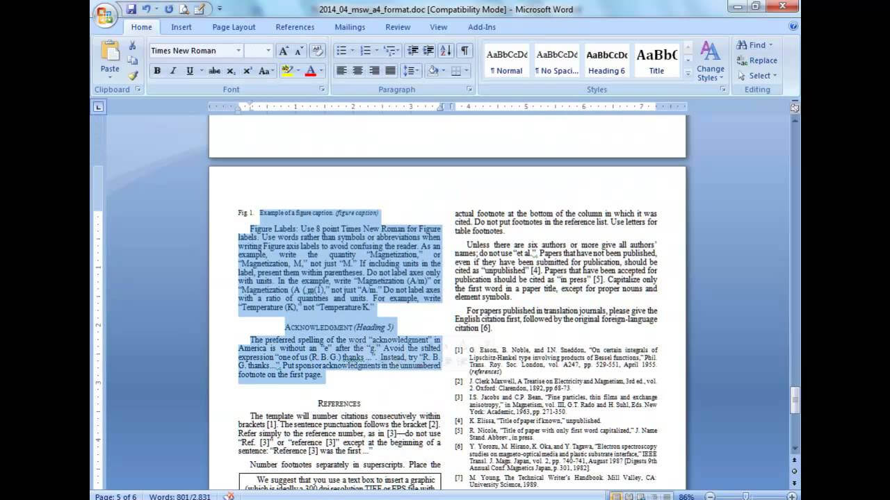 Convert A Paper Into Ieee - Quick Conversion Guide With Throughout Ieee Template Word 2007