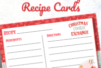 Cookie Exchange Recipe Card Template – Atlantaauctionco regarding Cookie Exchange Recipe Card Template