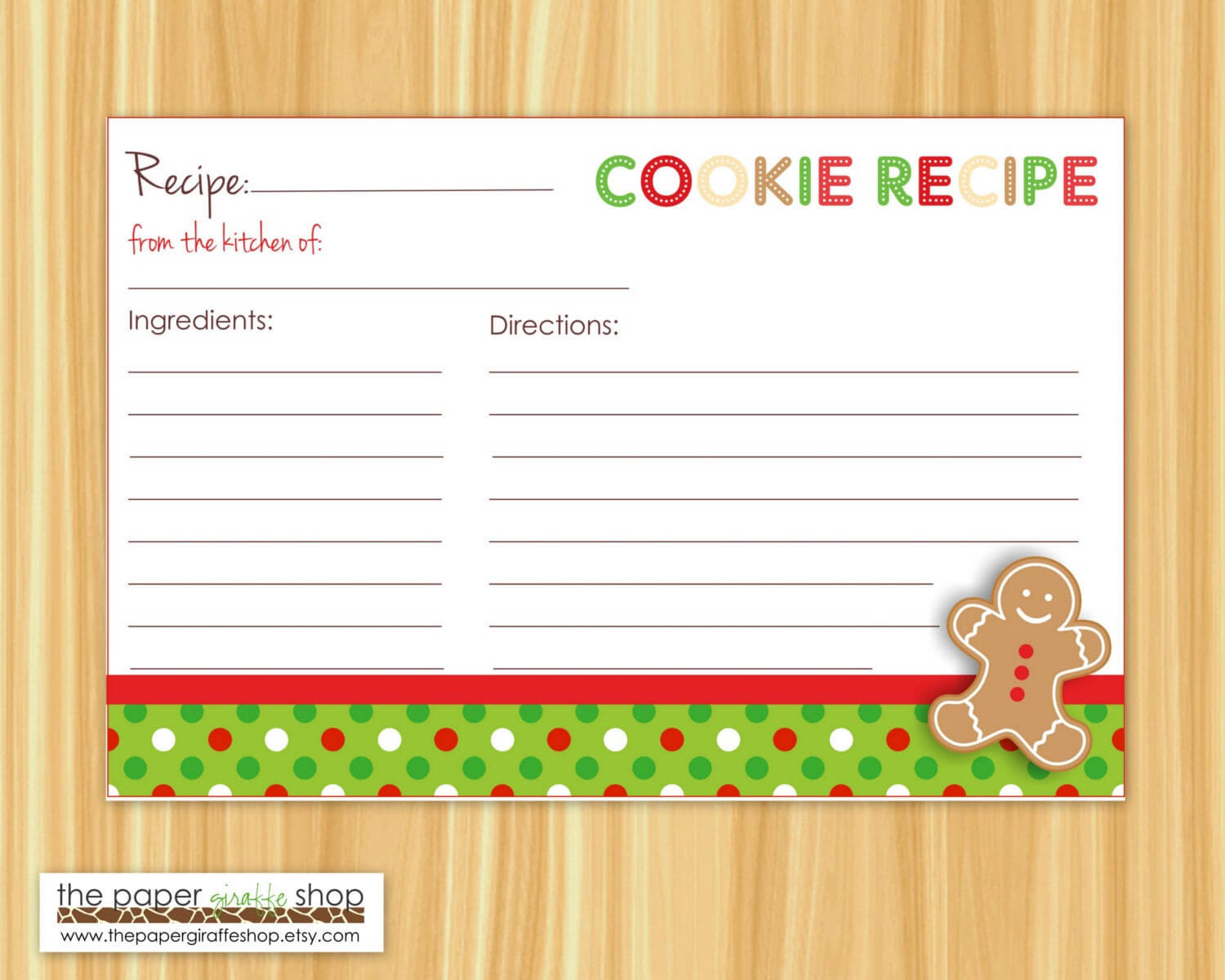 Cookie Exchange Recipe Card Template - Atlantaauctionco Throughout Cookie Exchange Recipe Card Template