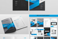Cool Indesign Annual Corporate Report Template   Report for Adobe Indesign Brochure Templates