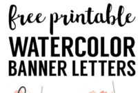 Coral Watercolor Banner Free Printable   Free Printables regarding Free Bridal Shower Banner Template