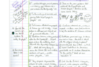Cornell Notes Example 4: Double Entry Journal regarding Double Entry Journal Template For Word