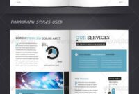 Corporate Brochure Template A4 & Letter 12 Pages with regard to 12 Page Brochure Template