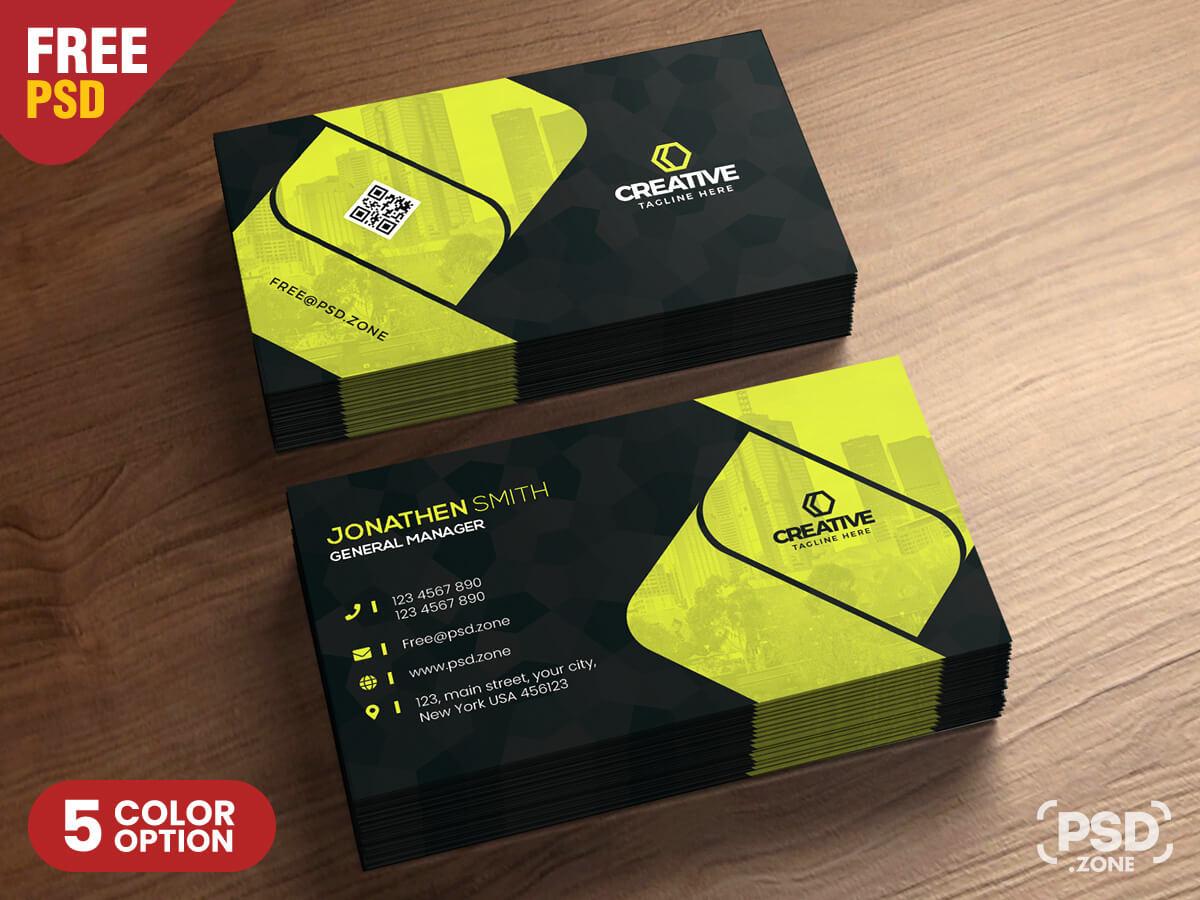 Corporate Business Card Design Psd - Psd Zone with regard to Psd Visiting Card Templates