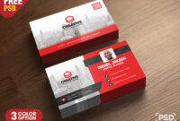 Corporate Business Card Psd Template – Psd Zone with Calling Card Psd Template