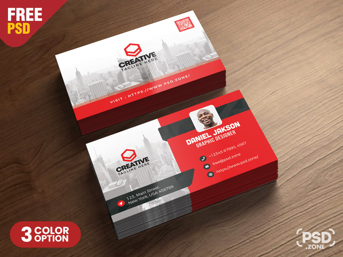 Corporate Business Card Psd Template - Psd Zone with Calling Card Psd Template