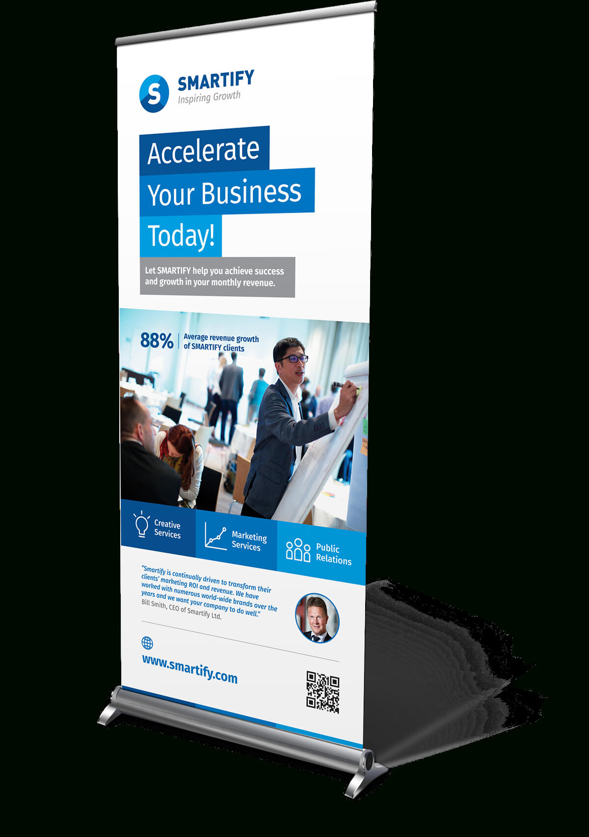 Corporate Business Roll-Up Banners Template For Download with regard to Retractable Banner Design Templates
